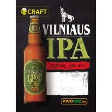 Пиво светлое фильтрованное VILNIAUS IPA (Вильнюс ИРА) , алк 6,3%. /Литва/ 30 л./Пэт-Кег