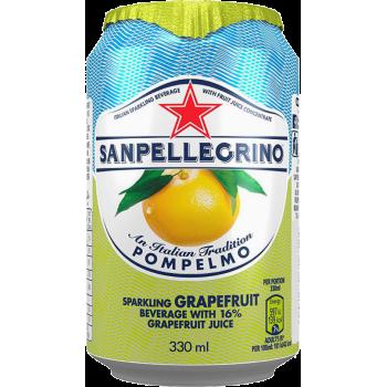 Напиток б/алк Сан Пеллегрино Грейпфрут газ сокосодержаший (БАНКА) 0,33 x 24 ж/б /Sanpellegrino Pompelmo