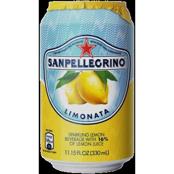Напиток б/алк Сан Пеллегрино Лимон газ сокосодержащий (БАНКА) 0,33 x 24 ж/б /Sanpellegrino Limonata