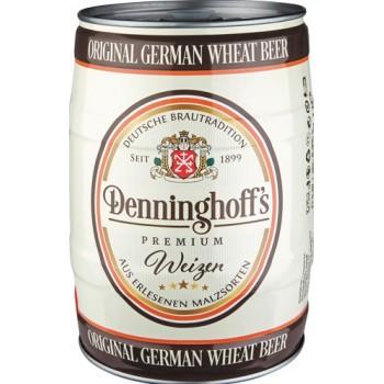 Пиво Denninghoffs Weizen светлое нефильтрованное 5 л. 5,3%