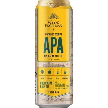 Пиво VOLFAS ENGELMAN APA (ВОЛЬФАС ЭНГЕЛЬМАН АПА) светлое фильтров. алк.5,0% 0,5 x 24 БАНКА /Литва