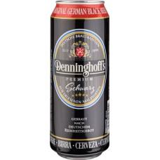 Пиво темное фильтрованное Деннингхоффс Щварц 4,9% 0,5х24 БАНКА