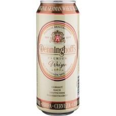 Пиво Denninghoffs Weizen (Деннингхоффс Вайзен) светлое нефильтрованное 0.5л ж/б (Германия)