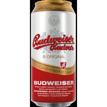 Пиво Будвайзер Будвар (БАНКА) 0.5 x 24 5%/Budweiser Budvar