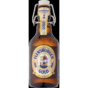 Пиво Фленсбургер Голд светлое 4,8 % 0,33 x 24 бут. / Flensburger Gold