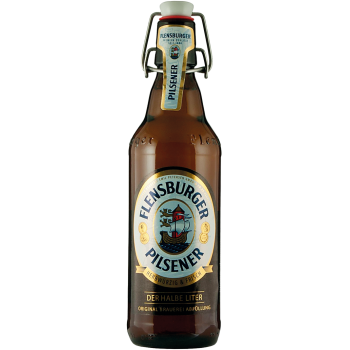 Пиво Фленсбургер Пилснер светлое 4,8 % 0,5 x 16 бут. / Flensburger Pilsener