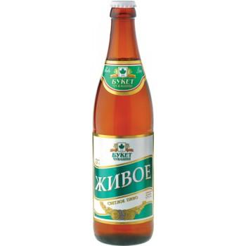 Пиво ЖИВОЕ светлое фильтр. непастер. 4,7 % 0,5 л. x 20 ст.бут,