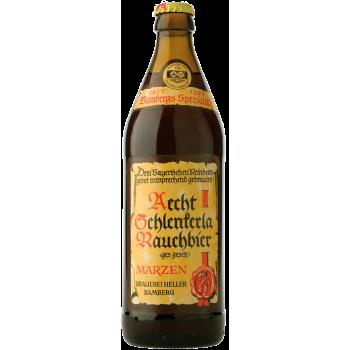 Пиво Шленкерла Раухбир Мэрцен (копченое на буке) 5,1% 0,5 x 20 бут./ RAUCHBIER MARZEN