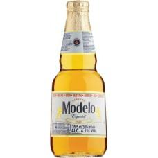 Пивной напиток Модело Эспециал 4,5% 0,355x24 ст.бут. / Modelo Especial