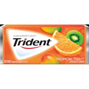 Жев. резинка Trident Tropical Twist 1 x 12 шт. (блок) / США