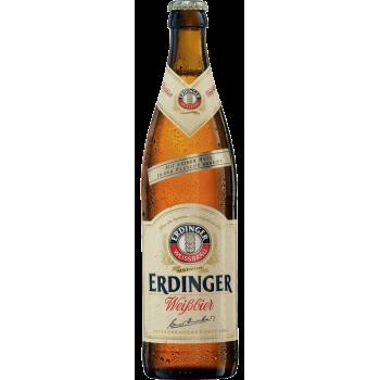 Пиво Эрдингер Алкогольфри светлое пшеничное (нефильтр.) Б/АЛК 0.5 x 12 ст.бут /Erdinger Alkoholfrei, Германия.