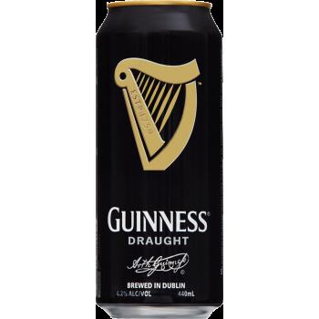 Пиво Гиннесс Драфт 4,1% 0,44 x 24 ж/банка/Guinness