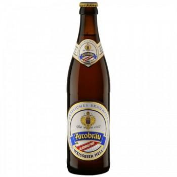 Пиво Arcobräu Weissbier Hell alkoholfrei (Аркоброй Вайсбир Хель безалкогольное) пшеничное светлое 0,5 л x 20 ст.бут.