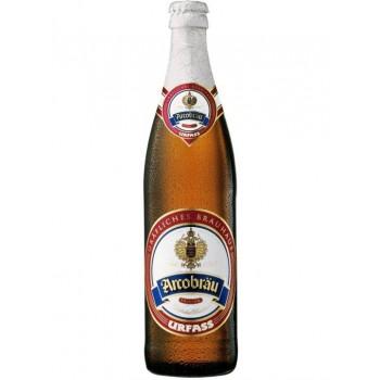 Пиво Arcobrau Urfass (Аркоброй Урфасс) светлое непастеризованное фильтрованное 0,5 л x 20 ст.бут.