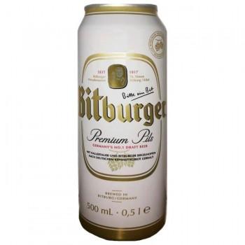 Пиво Bitburger Premium Pils (Битбургер премиум пилс) светлое 0.5 л x 24 ж/б