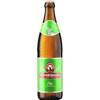 Пиво BOHRINGER Pils (Бохрингер Пилс) светлое 0.5 х 20 ст.бут. алк. 4.8%
