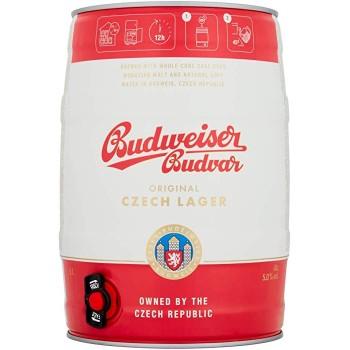 Пиво Будвайзер Будвар /БОЧКА 5 л/ светлое 5,0 % Budweiser Budvar