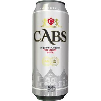 Пиво CABS (КАБС) светлое фильтрованное 0.5л ж/б
