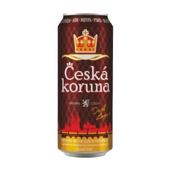 Пиво Ceska koruna Dark lager (Чешска Коруна Дарк лагер) темное фильтрованное 0,5 л х 12 ж/б