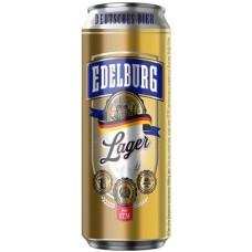 Пиво Edelburg Lager (Эдельбург Лагер) светлое 0.5л ж/б