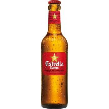Пиво Estrella Damm (Эстрэлла Дамм) светлое фильтрованное 0,33 л х 24 ст.бут.