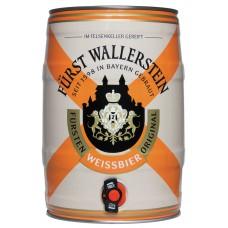 Пиво Furst Wallerstein Weissbier (Фюрст Валлерштайн Вайсбир) светлое нефильтрованное 5 л бочонок.