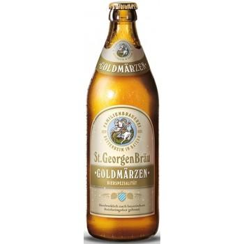 Пиво St.GeorgenBrau GOLDMÄRZEN (Санкт Георген Брау ГолдМерцен) светлое фильтрованное непаст. 0.5 х 20 ст.бут. алк. 5,6%