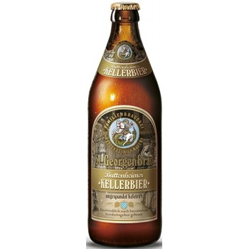 Пиво St. GeorgenBrau KELLERBIER (Санкт Георген Брау КЕЛЛЕРБИР) тёмное нефильтрованное непаст. 0.5 х 20 ст.бут. алк. 4,9%