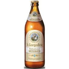 Пиво St. GeorgenBrau WiessBier (Санкт Георген Брау Вайссбир) светлое пшениное непаст. 0.5 х 20 ст.бут. алк. 4,6%
