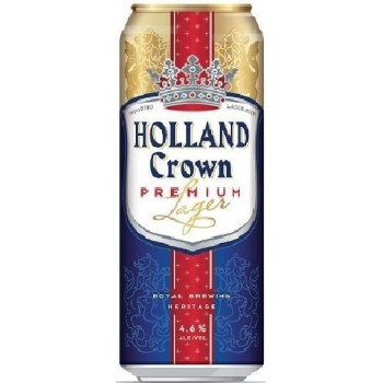 Пиво Холланд Краун Премиум (Holland Crown Premium) светлое фильтрованное 0,5 л x 24 ж/б