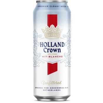 Пиво Холланд Краун Вит-Бланш (Holland Crown Wit-Blanche) светлое нефильтрованное 0,5 л x 24 ж/б