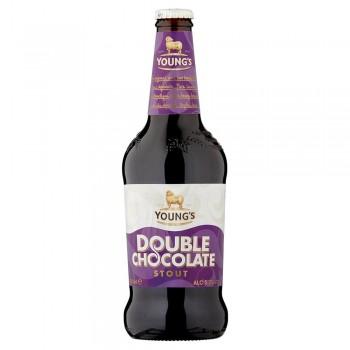 Пивной напиток Young's Double Chocolate Stout (Янгс Двойной Шоколадный Стаут) 0,5 л х 8 ст.бут.
