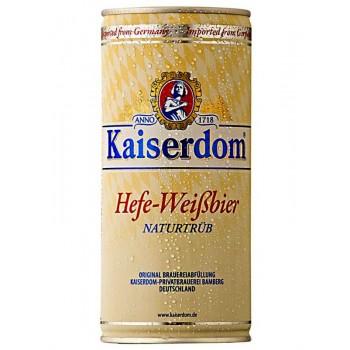 Пиво Kaiserdom Hefe-Weisbier (Кайзердом Хефе-Вайсбир) светлое нефильтрованное пастеризованное 1,0 л x 12 ж/б