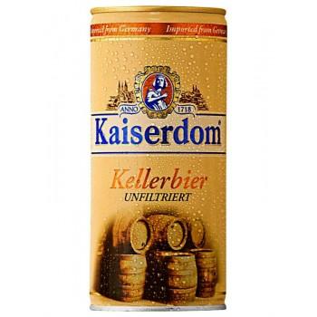 Пиво Kaiserdom Kellerbier (Кайзердом Келлербир) светлое нефильтрованное пастеризованное 1,0 л x 12 ж/б