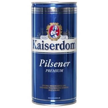 Пиво Kaiserdom Pilsener Premium (Кайзердом Пилснер Премиум) светлое фильтрованное пастеризованное 1,0 л x 12 ж/б