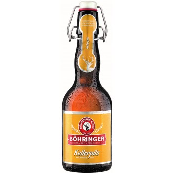 Пиво BOHRINGER Kellerpils (Бохрингер Келлерпилс) светлое 0.33 х 20 ст.бут. алк. 4.8%