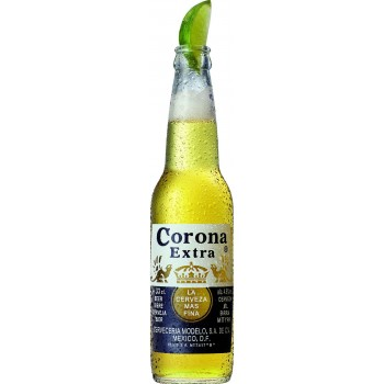 Пивной напиток Корона Экстра 0,33 x 24 ст.бут 4,5%/Corona Extra, Мексика.