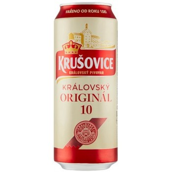 Пиво Krusovice Kralovsky Original 10 (Крушовица Краловска оригинал 10) светлое фильтрованное пастеризованное 0,5 л x 24 ж/б
