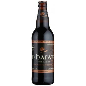 Пиво O'Hara's Irish Stout (О`Хара Айриш Стаут) тёмное фильтрованное пастеризованное 0,5 л х 12 ст.бут.