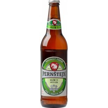 Пиво Pernstejn Vilem (Пернштейн Вилем) светлое фильтрованное пастеризованное 0,5 л х 20 ст.бут.