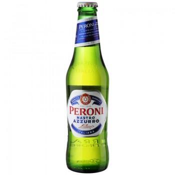Пиво Peroni Nastro Azzurro (Перони Настро Аззурро) светлое фильтрованное пастеризованное 0,33 л х 24 ст.бут.