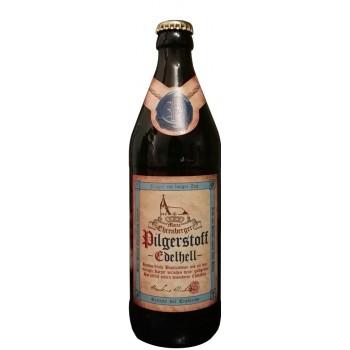 Пиво PILGERSTOFF EDELHELL (ПИЛГЕРСТОФФ ЭДЕЛХЕЛЛ) светлое фильтрованное 0,5 л х 20 ст.бут.