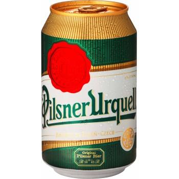 Пиво Pilsner Urquell (Пилснер Урквелл) светлое 0,33 л x 24 ж/б