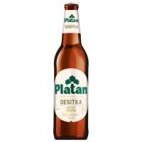 Пиво Platan Desitka 10 (Платан десятка) светлое 0.5л ст.бут. / Чехия