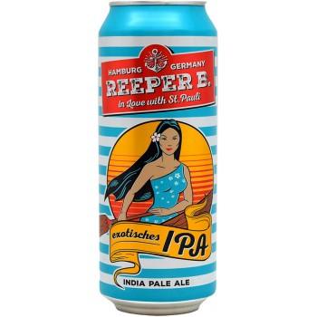 Пиво Reeper B. Exotisches IPA (Реепер Б. Экзотишес ИПА) пастеризованное светлое фильтрованное 0.5 л х 24 ж/б