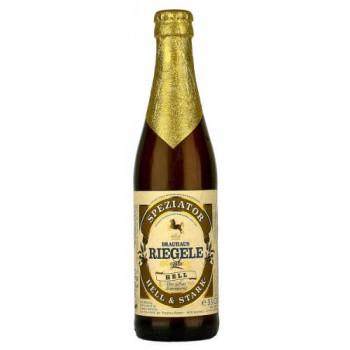 Пиво Riegele Speziator Hell (Ригеле Специатор Хель) светлое фильтрованное пастеризованное 0.33 л х 24 ст.бут.