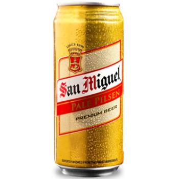 Пиво San Miguel Pale Pilsen (Сан Мигель Пэйл Пилсен) светлое фильтрованное 0.5л ж/б