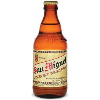 Пиво SAN MIGUEL PALE PILSEN (Сан Мигель Пэйл Пилсен) светлое фильтрованное  0.33 х 24 ст.бут. алк. 5.0%