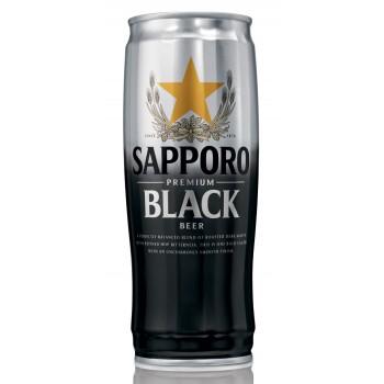 Пиво Sapporo Black (Саппоро Блэк) темное фильтрованное 0,65 л х 12 ж/б