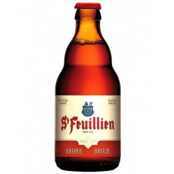 Пиво St-Feuillien Brune (Сен Фёйен Брюн) солодовое нефильтрованное пастеризованное темное 0.33 л х 24 ст.бут.